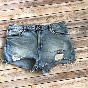 BP distressed jean shorts